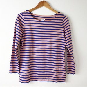 Club Monaco Striped Long Sleeve Tee Shirt